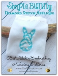 Simple Bunny Diamond Stitch Applique 4 sizes
