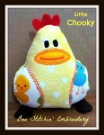Little Chooky ITH 4x4, 5x7, 6x10