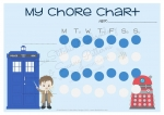 Dr Who Inspired Chore Chart PRINTABLE