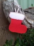 Reversible Stocking ornament - 4x4