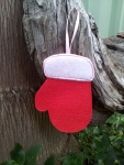 Reversible Mitten Ornament - 4x4