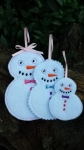 Snowman Ornament 4x4 - 3 sizes