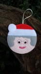 Mrs Claus Bauble - 4x4
