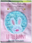 Shabby Rabbit Applique Patch - 4x4 5x5 6x6