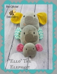 'Ello' the Elephant ITH softie - 3 sizes