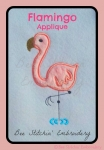 Flamingo Applique 5x7