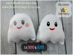 ITH Boo and Ahh - Ghost softies 3 sizes