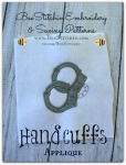 Handcuffs Satin Stitch Applique - 4x4 and 5x7