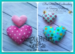Simple Heart Softie - ITH - 4x4 5x7 6x10 7x10 8x10