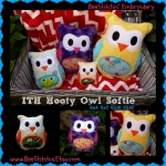 hooty the owl softie - 4x4 5x7 6x10 8x10