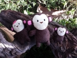 Monkey softie (with or without bow) - 3 sizes