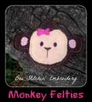 Monkey Head Felties 3 sizes