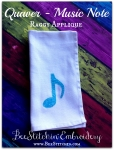 Quaver Music Note Raggy Applique 4x4 5x7 6x10