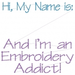 Name Tag - Embroidery Addict - 4x4