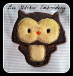 Olli Owl 4x4 Applique