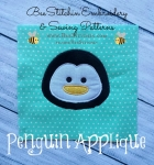 Penguin head Applique Embroidery Design - 4x4 5x7 6x10