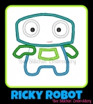 Little Ricky Robot Applique 2 sizes