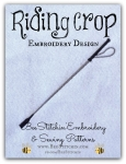 Riding Crop - 4x4 and 5x7 Embroidery Design