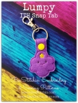Lumpy ITH Snap Tab - 4x4 Embroidery Design