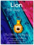 Lion ITH Snap Tab - 4x4 Embroidery Design
