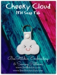 Cloud ITH Snap Tab - 4x4 Embroidery Design