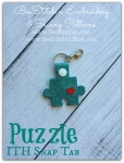 Autism Puzzle ITH Snap Tab - 4x4