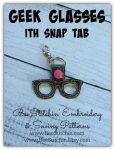 Geek Glasses ITH Snap Tab - 4x4