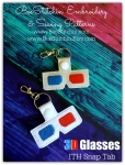 Dr Who 3d Glasses ITH Snap Tab - 4x4