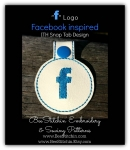 Facebook Inspired ITH Snap Tab - 4x4 Embroidery Design