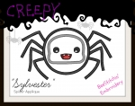 Sylvester Spider Applique 3 sizes