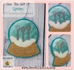 3Spoons ITH Snowglobe Ornament 4x4 and 5x7