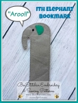 ITH Elephant Bookmark 3 sizes - 4x4, 5x7sml, 5x7 lrg
