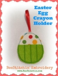 Easter Egg Crayon holder 4x4 and 5x7